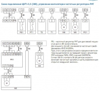 Унвен.ру - Схема подключения щита управления вентиляционной установкой с водяным калорифером ЩУТ1-5,5 (380)...