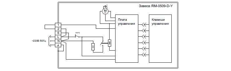 Тепловые завесы Hintek.  Схема подключения.