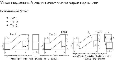 Совент.ру - Схема утки для систем дымоудаления.